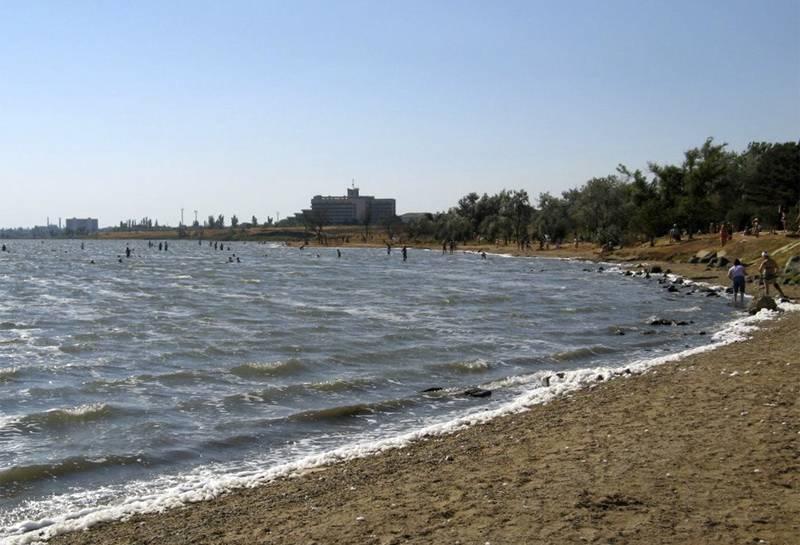 Целебное грязевое сакское озеро