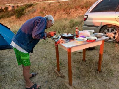 Поездка на Азовское море с палатками: сборы, трудная дорога, рыбалка и прекрасный вид из «окна»